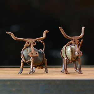Metal Texas Longhorn Sculpture